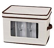 Household Essentials Flute Storage Stemware Chest/Canvas - H157263