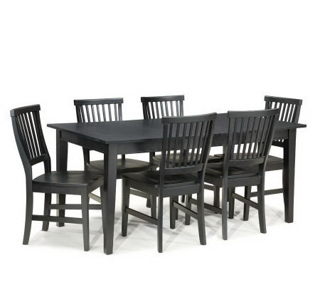 home styles arts and crafts 7 piece dining set. Black Bedroom Furniture Sets. Home Design Ideas
