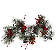 24 Iced Pine w/ Berries Wreath or 4 Garland by Valerie - H203863