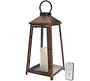 Luminara 18 Hampton Indoor Outdoor Lantern with Flameless Candle & Remote - H207663