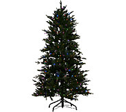 As Is Santas Best 7.5 Grand Fraser Fir Tree w/ EZ Power & 8 Light Functions - H208163