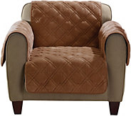 Sure Fit Plush Comfort Chair Furniture Cover w/Pockets & Non-Skid Back - H208763