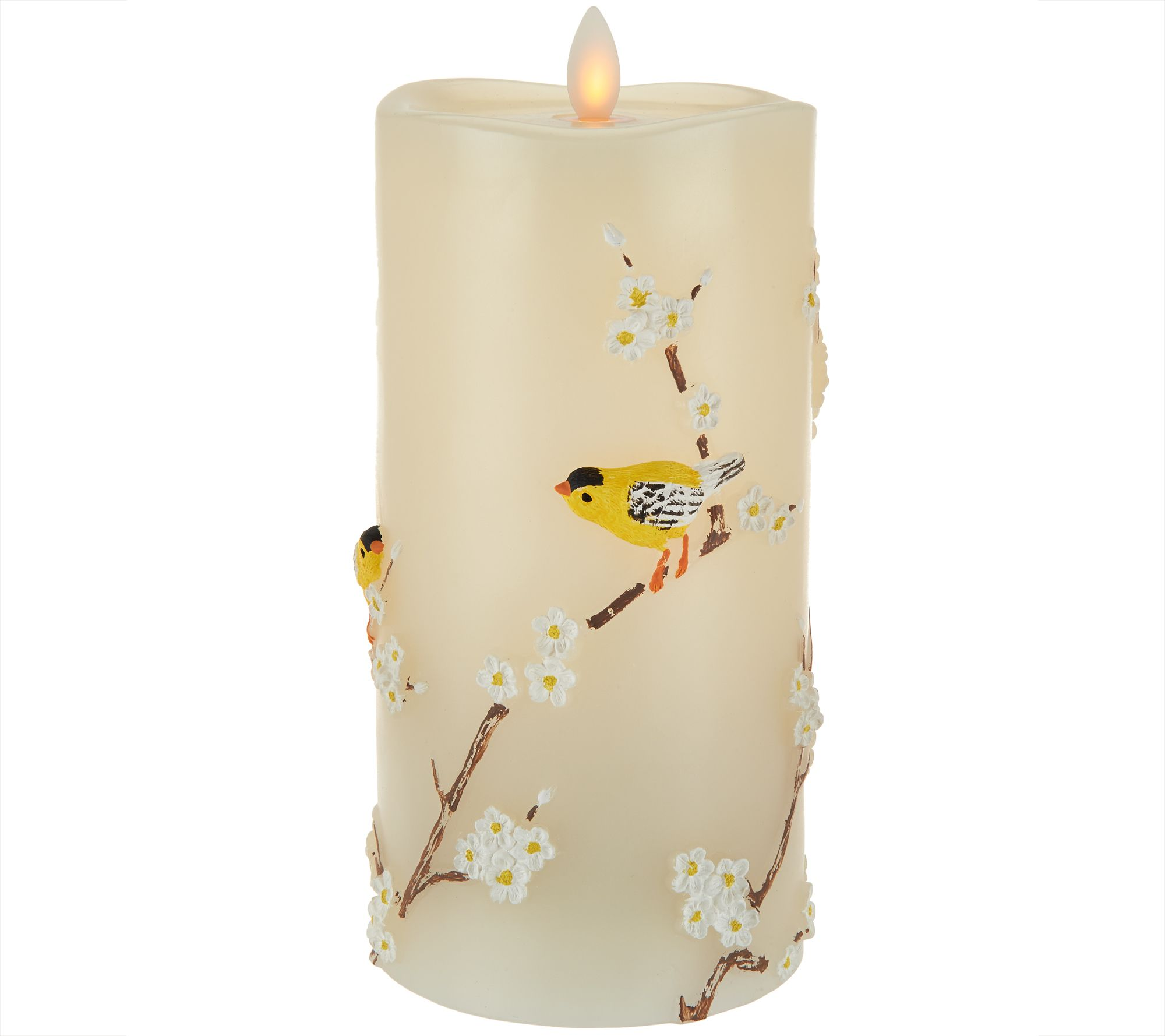 7 5 mirage candle with embossed birds by candle impressions h210163