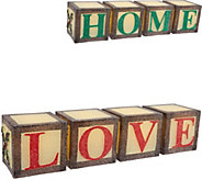 As Is 2-in-1 Illuminated Reversible Word Blocks by Valerie - H210263