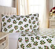 Malden Mills Polarfleece Full Holiday Print and Solid Sheet Set - H211263