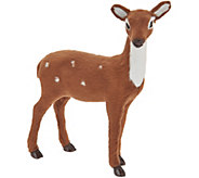 Byers Choice 8 Decorative Deer with Faux Fur - H212063