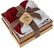 Berkshire Luxury 50x70 Loftmink to Faux Fur Throw in Gift Box - H212263