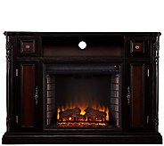 Hendrix Media Console/Stand Electric Fireplace,Ebony Finish - H282463