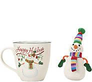 Pfaltzgraff Winterberry Mug with Stuffed Snowman Ornament - H287163