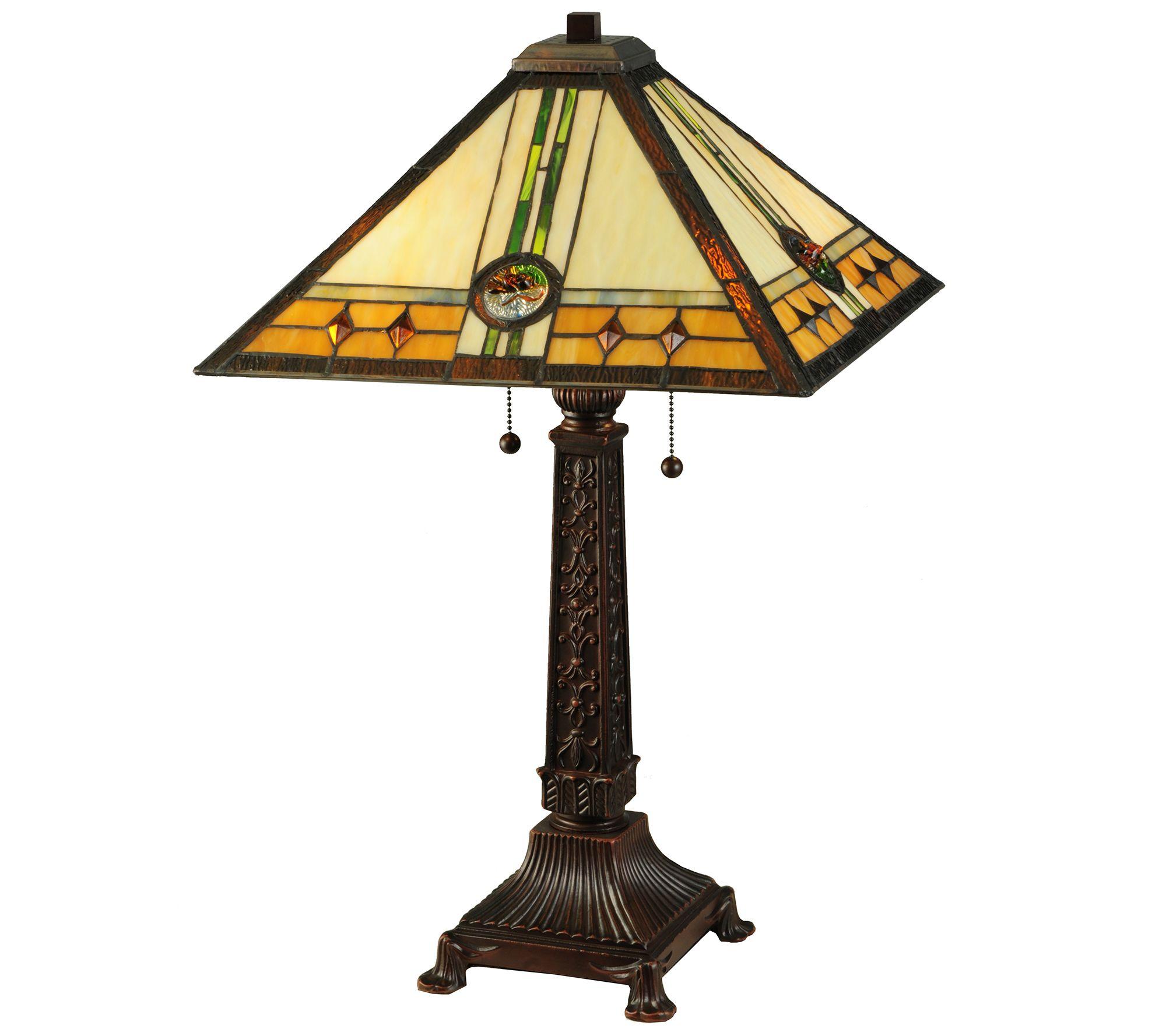 Meyda Tiffany Style Carlsbad Mission Table Lamp QVC
