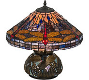 Meyda Tiffany-Style 16 Hanginghead Dragonfly Table Lamp - H294063