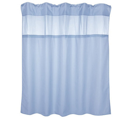 Hookless Hidden Ring Fabric Shower Curtain W 2 Vinyl Liners