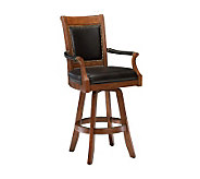 Hillsdale Furniture Kingston Game Leather BackBar Stool - H142064