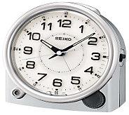 Seiko Bedside Alarm Clock with Snooze - Silvertone - H178064