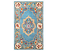 Royal Palace Elegant Medallion 3 x 5 Wool Rug - H199864