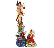 Jim Shore Heartwood Creek 12 1/4 Holiday Stackable Figurine - H206864