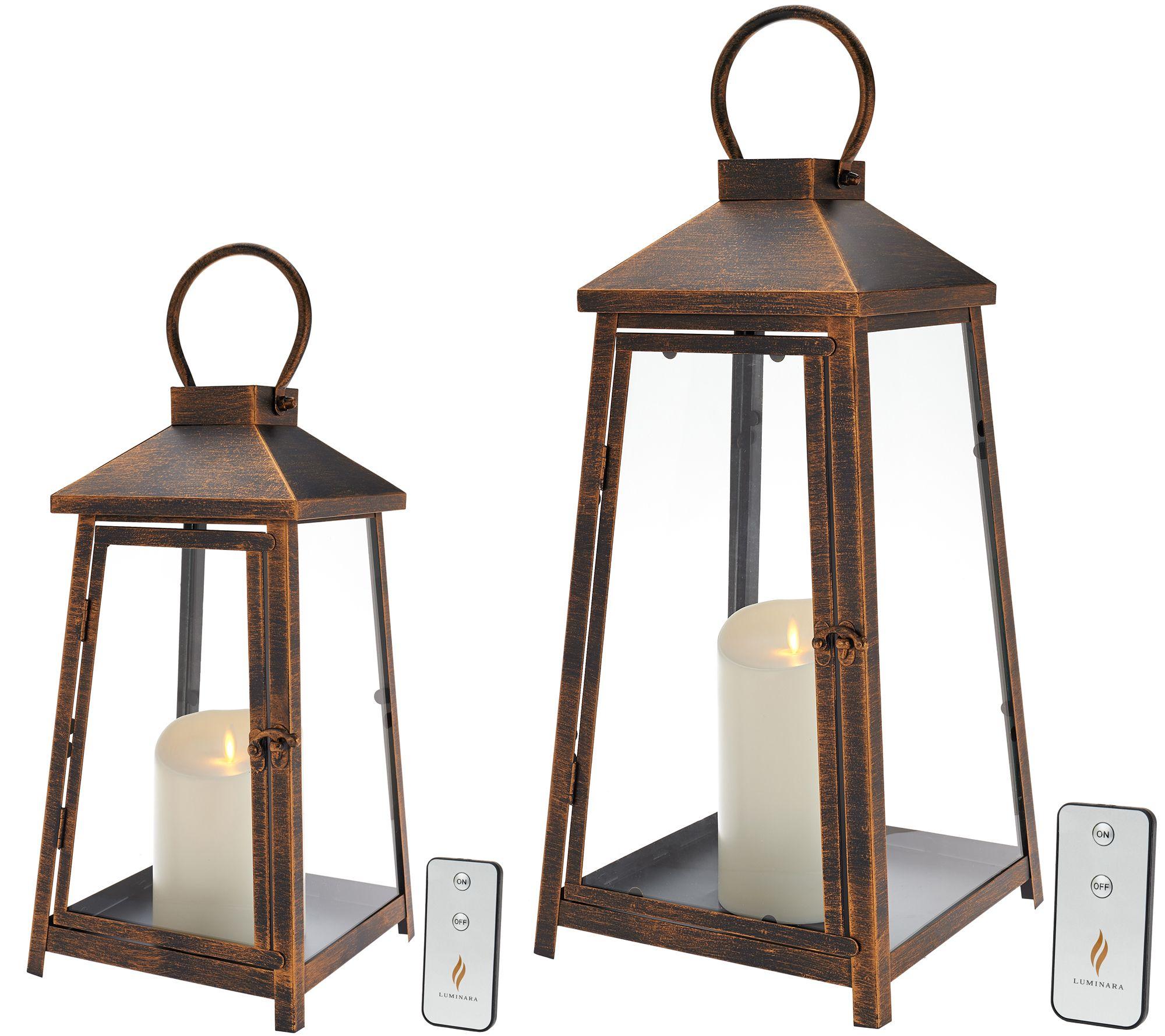 Luminara Hampton Indoor Outdoor Lantern With Flameless