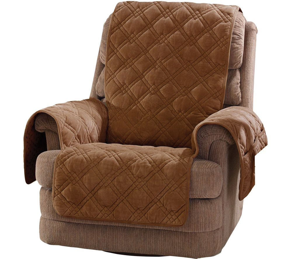 Sure Fit Plush Comfort Recliner Furniture Cover W/Non-Skid