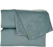 Casa Zeta-Jones Signature Lace 400TC Cotton Embroidered Hem Sheet Set - H213364