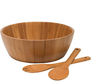 Lipper Bamboo Salad Bowl with Servers, 3-PieceSet - H292464