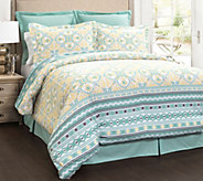 Carlene 6-Piece Blue King Comforter Set by LushDecor - H292564