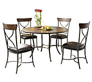 Hillsdale Cameron 5pc Round Dining Set w/X-backChairs - H358764
