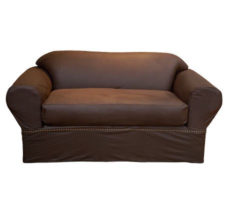 surefit faux leather loveseat furniture cover