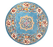 Royal Palace Elegant Medallion 46 Round Wool Rug - H199865
