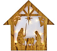 Plow & Hearth 15 Wooden Star w/ Holographic Illumination - H205965