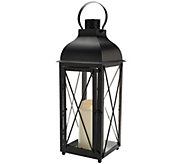 Luminara 19 Churchill Lantern with Flameless Candle w/ Timer - H206665