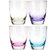 Lenox (4) 12 oz. DOF Butterfly Meadow Assorted Glassware - H207365