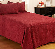 Wedding Ring Chenille_100Cotton TW Bedspread wit Sham - H207665