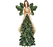 13 Angel with Berries and Holly Leaves on Skirt by Valerie - H211665