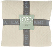 LOGO by Lori Goldstein Stone Washed Quilted King Coverlet - H212565