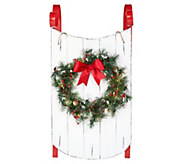 Scott Living 34 Decorative Sled with Illuminated Wreath - H214065