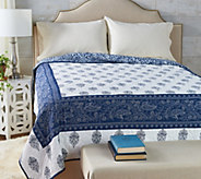 The Quilt Patch Adah Twin 100Cotton Pieced Quilt w/ Hotel Border - H214265