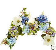 As Is 4 Hydrangea and Berry Garland by Valerie - H216965