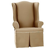 Sure Fit CVC Duck Wing Chair Slipcover - H280965