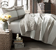 Berlin Stripe Quilts Taupe 3-Piece King Set by Lush Decor - H287465
