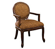 Wakefield Antiqued Walnut Finish Accent Chair - H359465