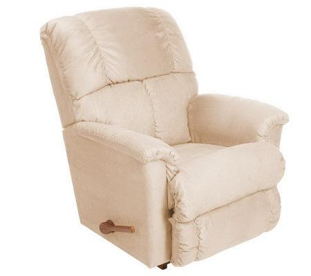 La z boy morgan microsuede full chaise rocker recliner for Chaise x rocker