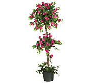 5 Mini Bougainvillea Topiary by Nearly Natural - H179266