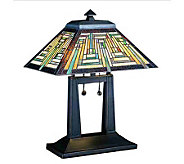 Tiffany Style 16 Oblong Southwest Mission Table Lamp - H181366