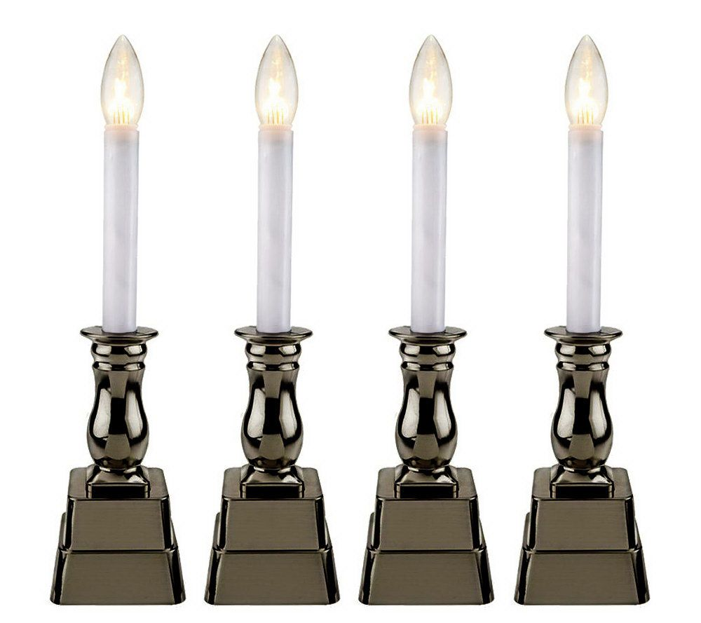 Bethlehem lights wreath battery operated - Bethlehem Lights Set Of 4 Battery Op Window Candles Page 1 Qvc Com