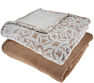 Berkshire Blanket S/2 50x70 Tipped Burnout Throw w/ Solid Throw - H209066