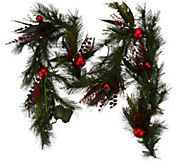 ED On Air 6 Mixed Pine Garland w/ Ornaments by Ellen DeGeneres - H209566