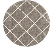 Safavieh 7x7 Round Lattice Hudson Shag Area Rug - H209866