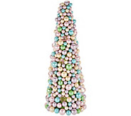 15 Pastel Beaded Egg Cone Tree - H210866