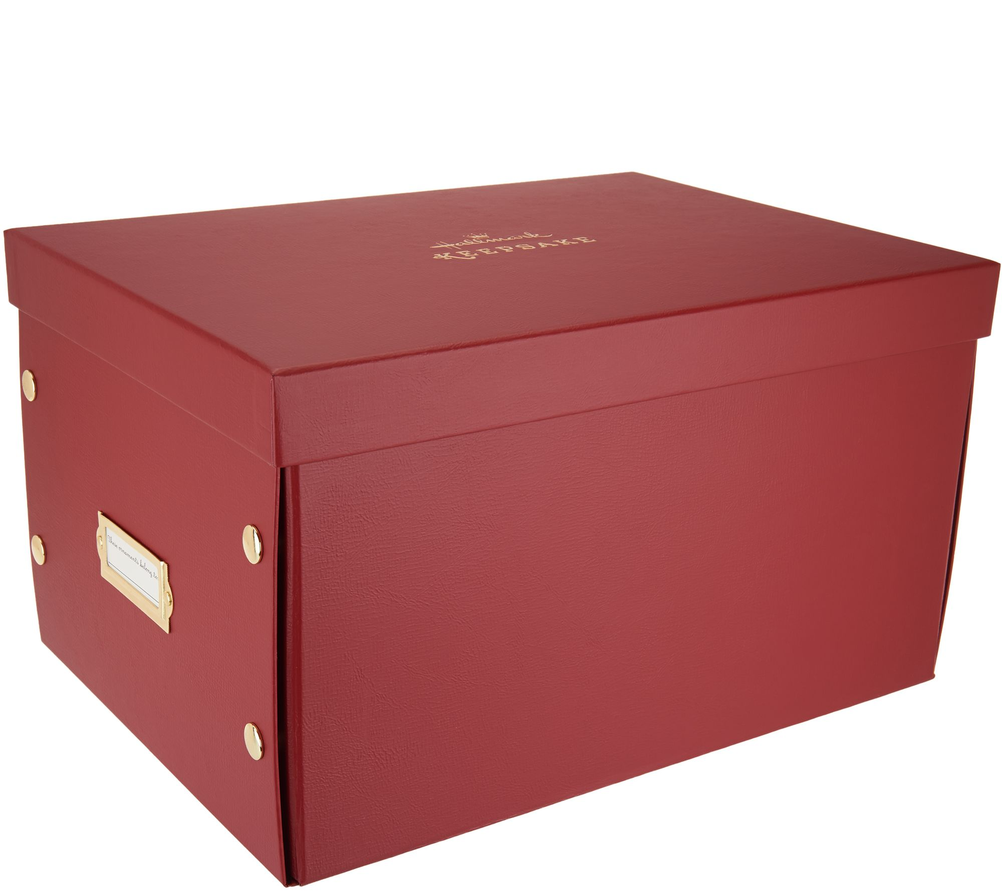 Hallmark Keepsake 16 Ornament Storage Box W Dividers Page 1 Qvc