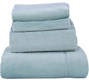 Berkshire Blanket Velvet Soft Solid Cozy Sheet Set - H212666